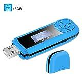 AGPTEK 16GB Tragbare USB MP3 Player 1 Zoll LCD...