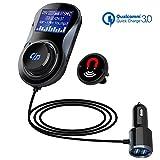 【QC3.0】 Bluetooth FM Transmitter, SONRU...
