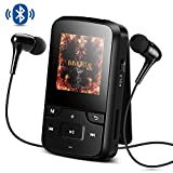 Bluetooth 4.0 8GB MP3 Player mit Clip, FM Radio,...