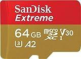 SanDisk Extreme 64GB microSDXC Memory Card + SD...