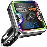 Clydek FM Transmitter Auto, Bluetooth 5,0 Wireless...