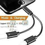 2 in 1 Lightning-Adapter Kopfhörer für iPhone X...