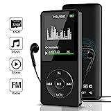 Aigital MP3 Player mit 32GB Speicherkarte,Mini...