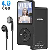 AGPTEK MP3 Player 8GB Bluetooth 4.0 MP3 Player,...