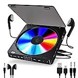 Gueray Tragbarer CD Player 1200 mAh Persönlicher...