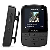 Victure Bluetooth MP3 Player 16GB Clip Mini Sport...