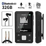 MP3 Player, Kingbox 32GB Bluetooth 4.1 Mini Sport...