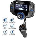 Bluetooth FM Transmitter GRDE KFZ Wireless Radio...