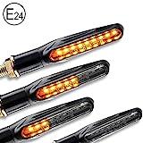 4x Motorrad LED Mini Blinker mit Lauflicht E...