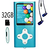 Hotechs MP3-Player/MP4-Player, MP3-Player mit 32...